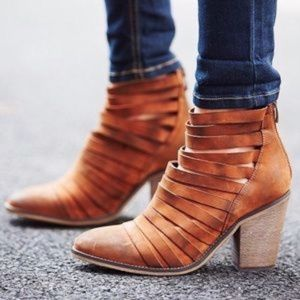 FREE PEOPLE Hybrid Strappy Heeled Ankle Bootie